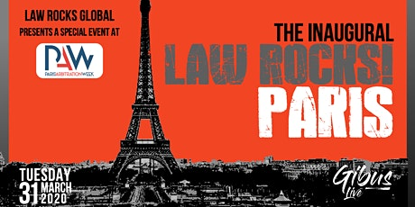 Inaugural Law Rocks! Paris at Paris Arbitration Week billets