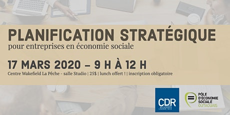 Planification stratégique pour entreprises d'économie sociale tickets