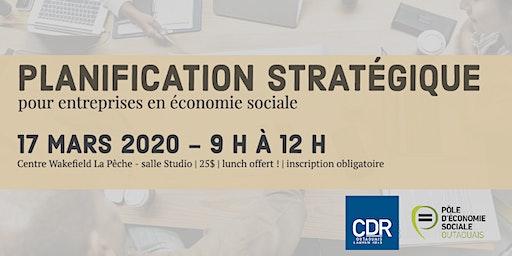 Planification stratégique pour entreprises d'économie sociale