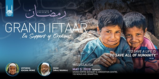 Grand Iftaar In Support of Orphans · Mississauga
