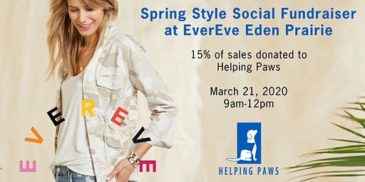 Helping Paws and Evereve (EP) join forces for a Spring Shopping Event