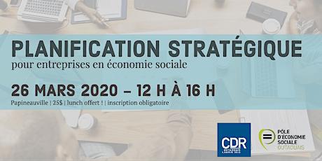 Planification stratégique pour entreprises d'économie sociale billets