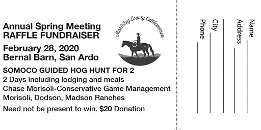 Monterey County Cattlewomen Raffle