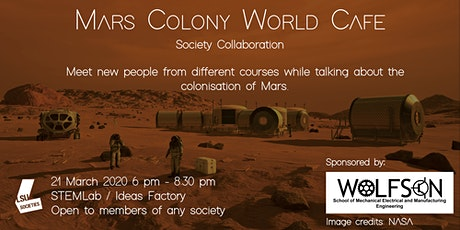 POSTPONED - Mars Colony World Café tickets