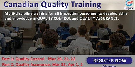 Canadian Quality Training (CQT) - Part 1 tickets