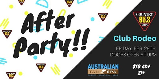 95.3 KRTY and AUSTRALIAN TAN PRESENT SAP Concert  AFTER PARTY
