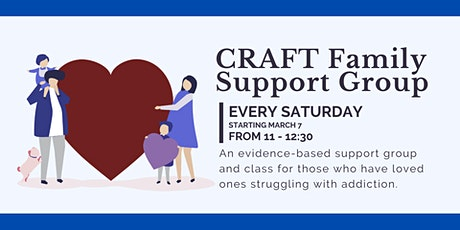 CRAFT Addiction Family Support Group and Workshop tickets