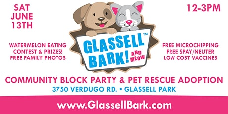 FREE EVENT! GLASSELL BARK 2020 - COMMUNITY BLOCK PARTY & PET RESCUE ADOPTION tickets