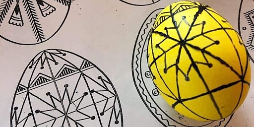 Ukrainian wax batik Easter eggs