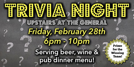 Trivia Night at the Harvard General Store tickets
