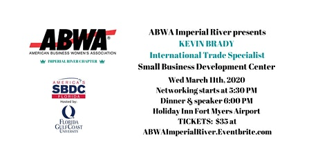 March 11th - Kevin Brady, Small Business Development Center tickets