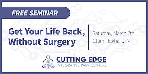 Regenerative Medicine Seminar - Get your life back, without surgery!
