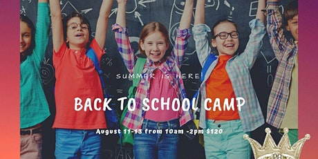 Back to School Camp tickets