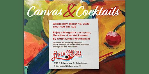 Canvas & Cocktails Painting Party at Perla Negra Mariscos Restaurant