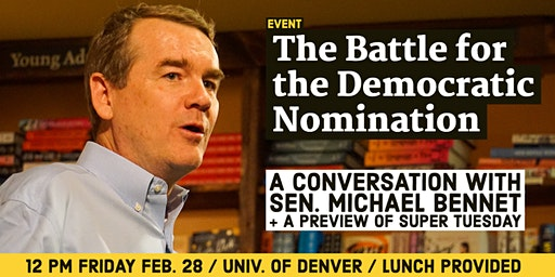 Conversation with Sen. Michael Bennet