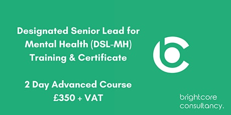 Designated Senior Lead for Mental Health (DSL-MH) Training & Certificate 2 Day Advanced Course: Central London tickets