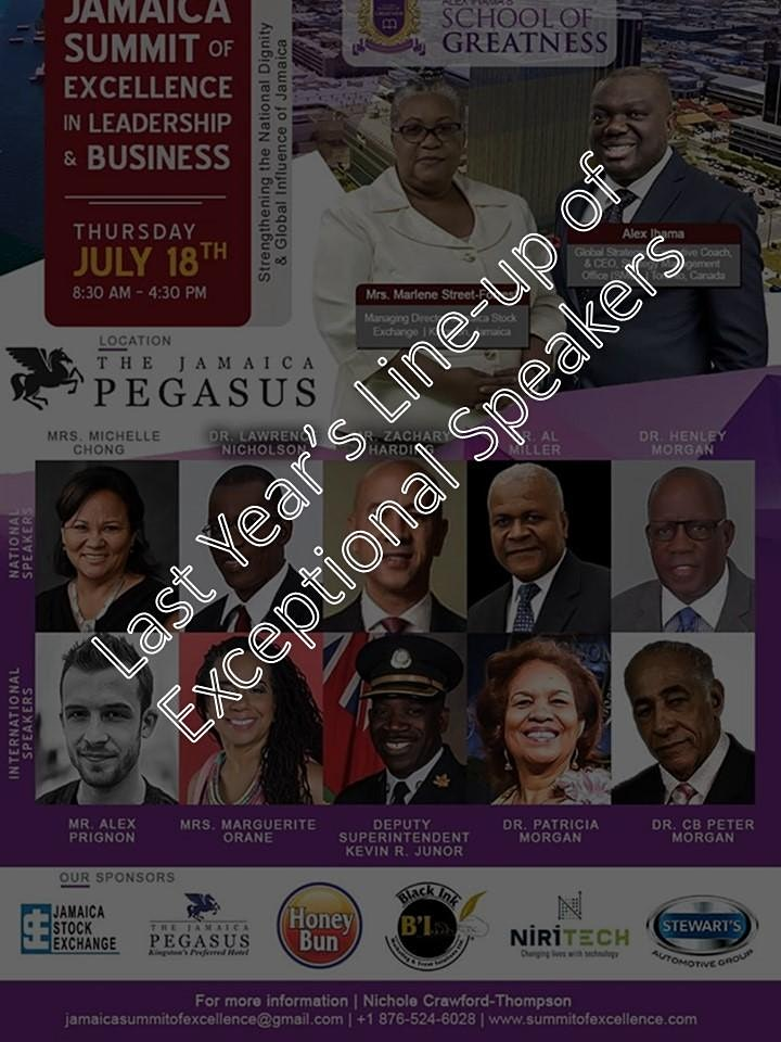 JAMAICA SUMMIT OF EXCELLENCE IN LEADERSHIP & BUSINESS 2020 image
