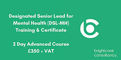 Designated Senior Lead for Mental Health (DSL-MH) Training & Certificate 2 Day Advanced Course: Birmingham tickets