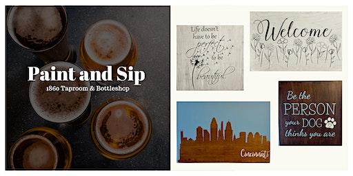 Paint & Sip | Create a Custom Wood Sign