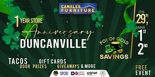 Canales Furniture Duncanville's 1 Year Anniversary Sale
