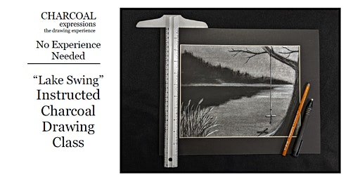 """Charcoal Drawing Event """"Lake Swing"""" in Loganville"""