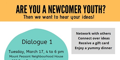 Newcomer Youth for Real Representation: YOUTH-LED Dialogues! tickets