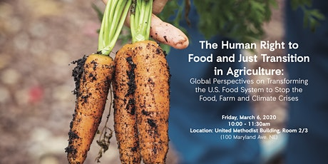 Right to Food & Just Transition in Ag: Global Perspectives tickets