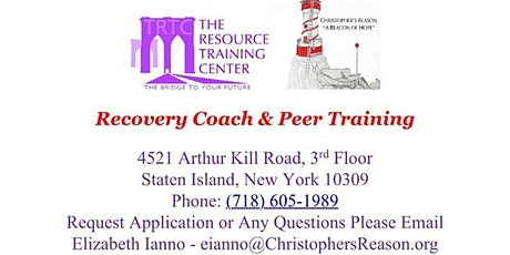 Recovery Coach/Peer Series Training tickets