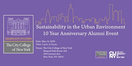 10-year anniversary of the M.S. in Sustainability in the Urban Environment tickets