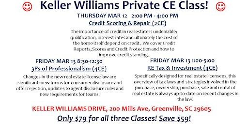 KW DRIVE PRIVATE Greenville Classes March 2020