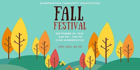 Summerwood Fall Festival 2020 tickets
