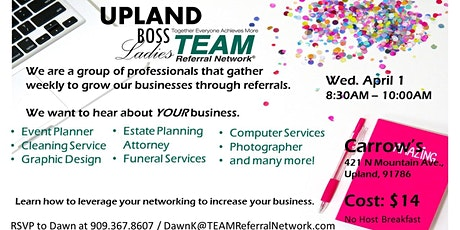 Boost your Breakfast with the Upland Boss Ladies tickets