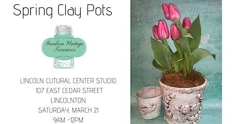 Spring Clay Pots