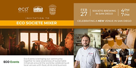 ECO Societe Brewing Event Mixer - February 27th, 2020 tickets