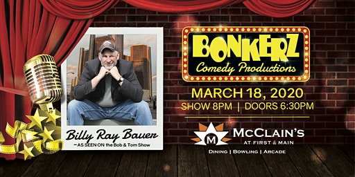 Billy Ray Bauer at Bonkerz Comedy Club - Blacksburg