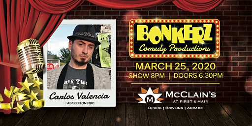 Carlos Valencia at Bonkerz Comedy Club - Blacksburg