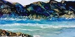 Land and Waterscapes Alcohol Ink (Ages High School - Adult)