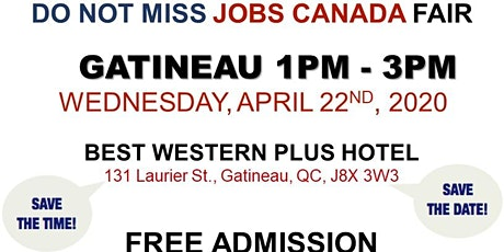 Gatineau Job Fair - April 22nd, 2020 tickets