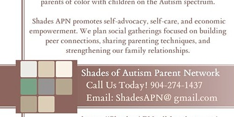 Shades of Autism Parent Network Social & Kick-off tickets