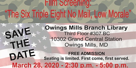Women's History Month: Commemorating the Service of WWII Women Veterans of the 6888th Battalion tickets