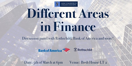 Different Areas in Finance tickets