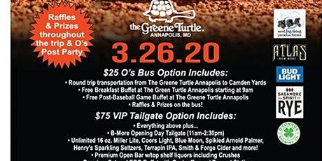 2020 Orioles Opening Day Bus & Pre-Game Party tickets