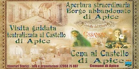 Visita Notturna straordinaria al Borgo  d'Apice Vecchia e Castello di Apice biglietti