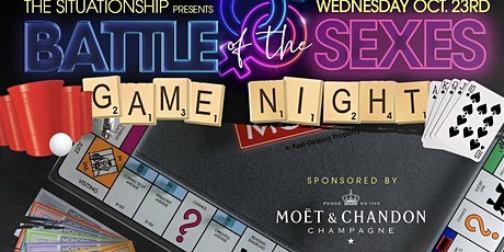 """Battle of the Sexes"""" Industry Happy Hour and Game Night Sponsored by Moet Nectar Rose (everyone Free with Rsvp) Limited Tickets tickets"""