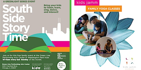 South Side Story Time + kids jamm Family Yoga: Family Fun on the Arts Block tickets