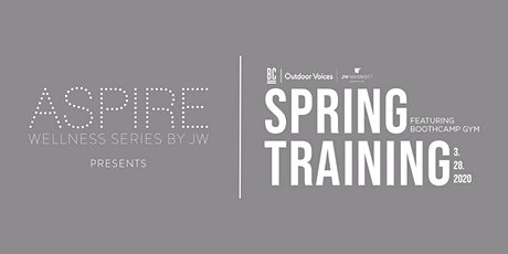 Aspire by JW: Spring Training with Outdoor Voices X BOOTHCAMP Gym tickets