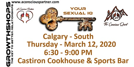 The Conscious Quest - SEXUAL IQ - How High is Yours? tickets