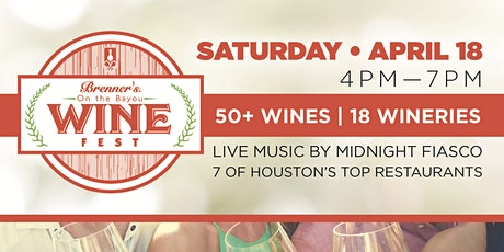 Brenner's on the Bayou Annual Spring Wine Fest tickets