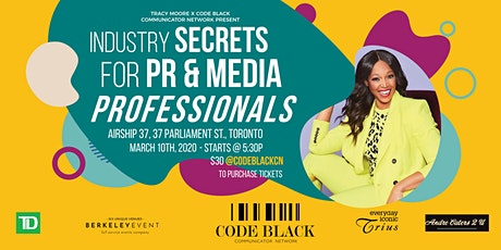 Industry Secrets for PR & Media Professionals tickets
