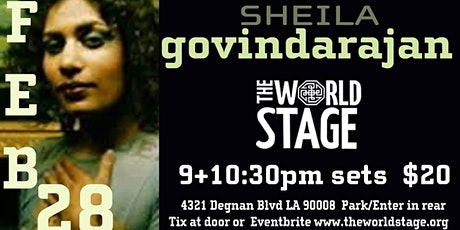 The World Stage presents *SHEILA GOVINDARAJAN*  tickets